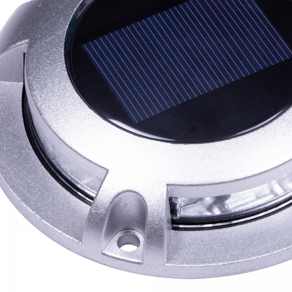 grondspot - Solar LED Decklight RVS - solarlamp - zonne energie spot - Nostalux