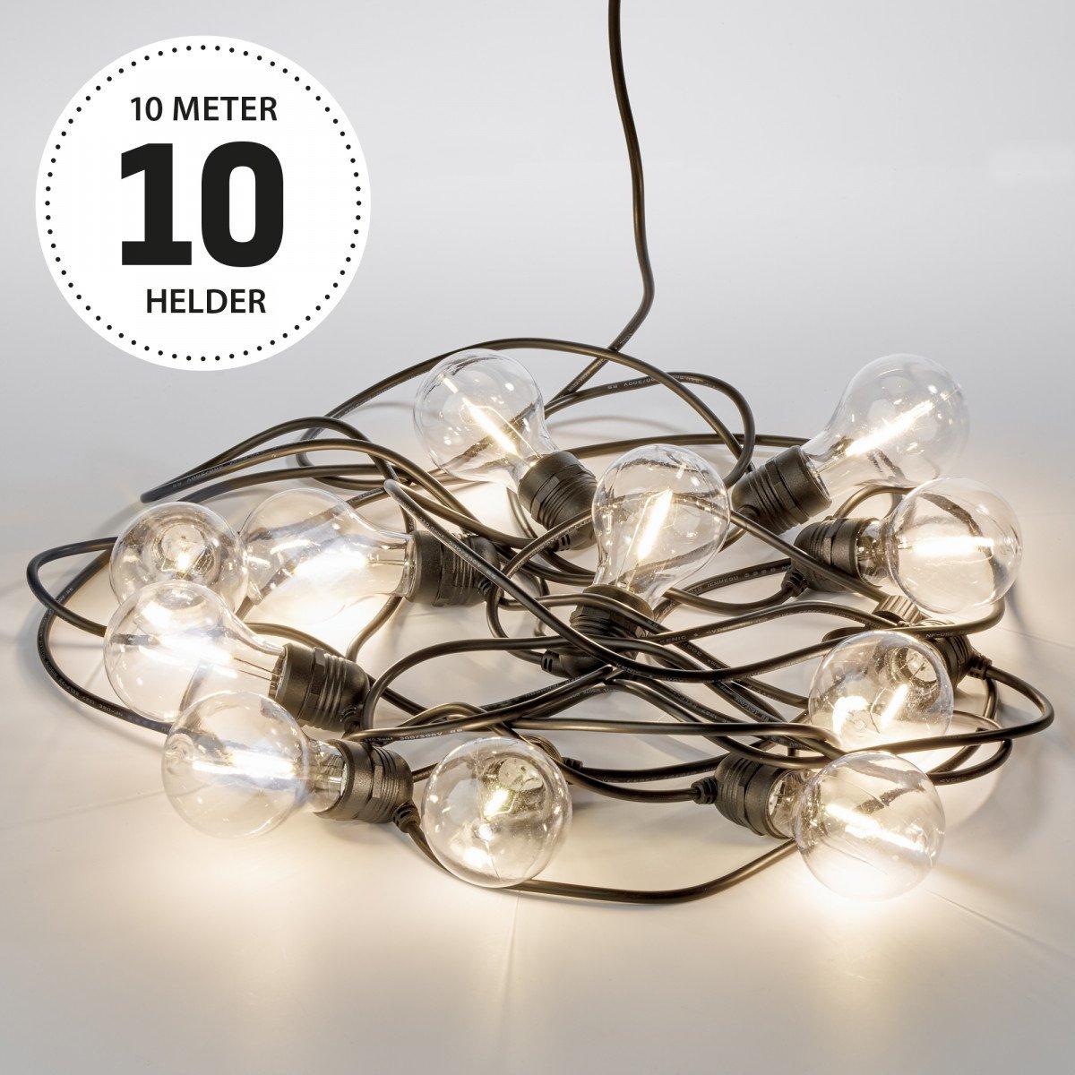 Lichtsnoer LED Party helder 10 meter / 15 Bolletjes