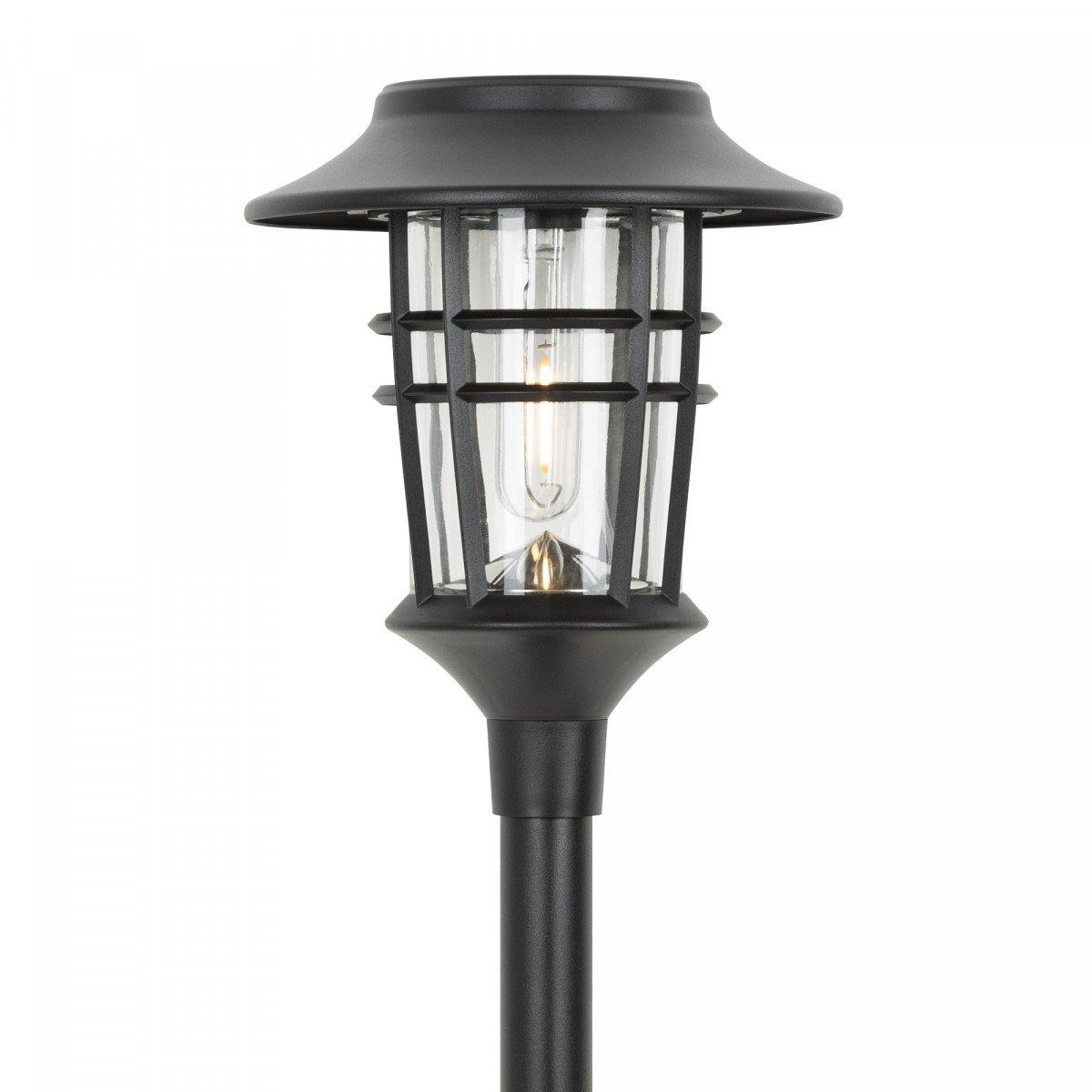 Fakkel zwart op zonne energie, sfeerverlichting voor buiten, LED solar fakkel Zwart Del Sol, Nostalux solar buitenlamp