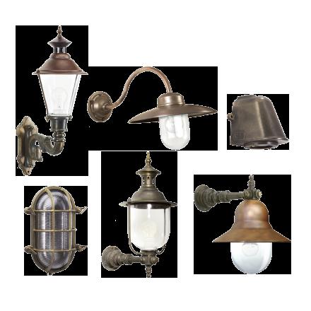 Buitenverlichting brons-koper