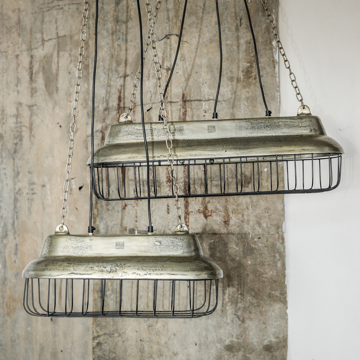 Hanglamp Alu zilver fabrieksdesign S