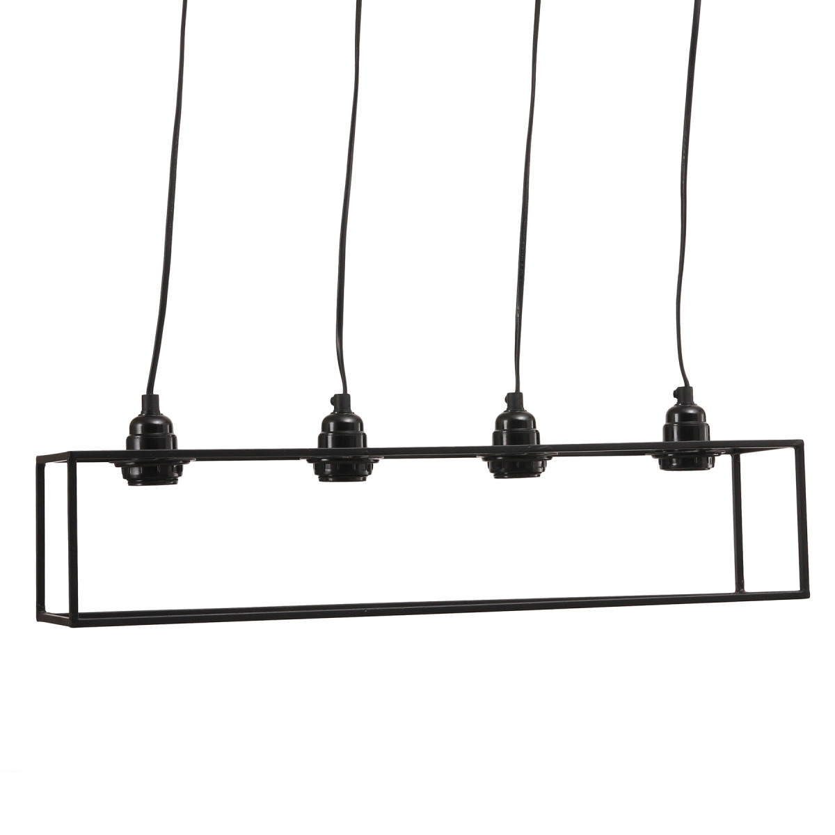 Hanglamp Alix Zwart 4 fittingen