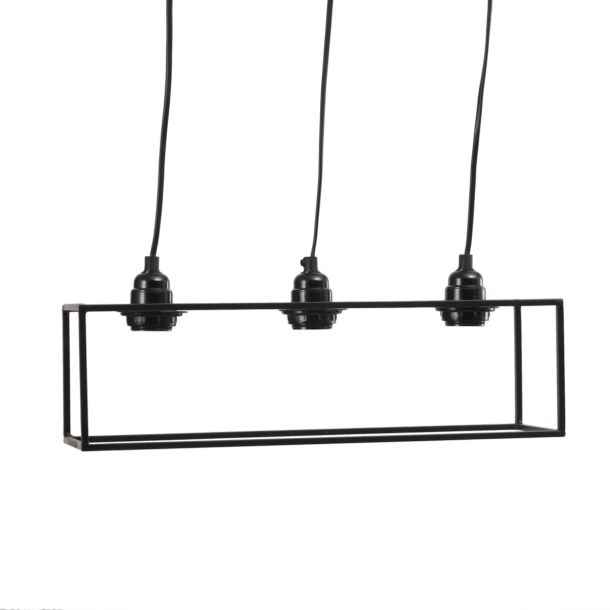 Hanglamp Alix Zwart 3 fittingen