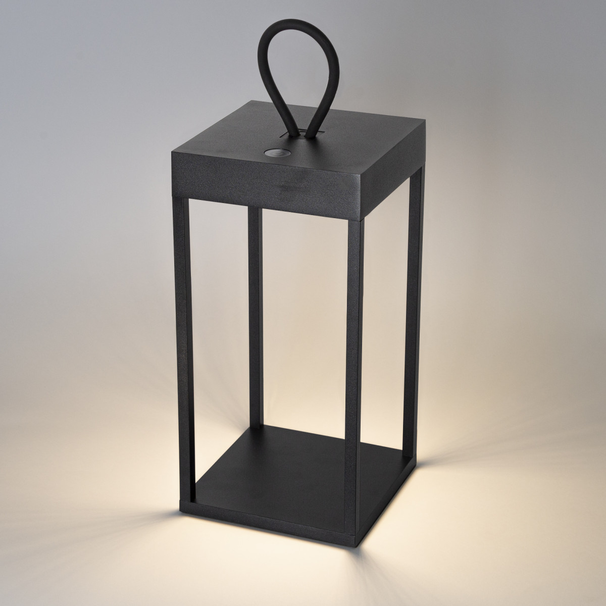 Windlicht Carlo Touch oplaadbaar zwart met USB