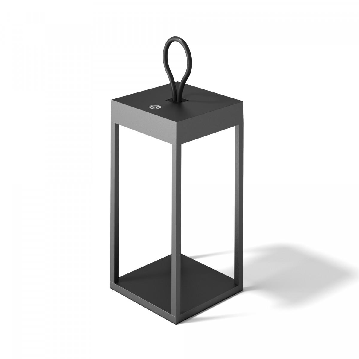 Windlicht Carlo Touch oplaadbaar wit met USB