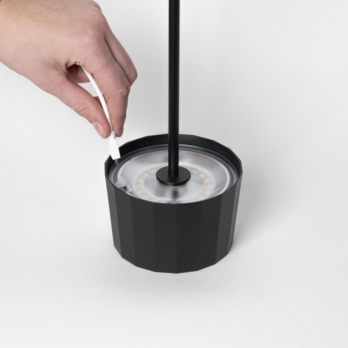 Tafellamp Lido Touch corten kleurig met USB
