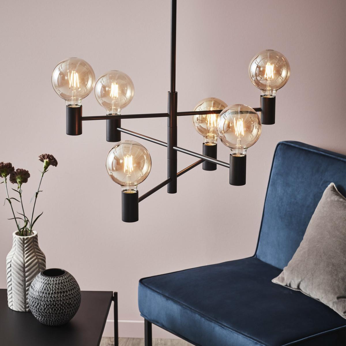 Hanglamp Capital 6-lichts zwart