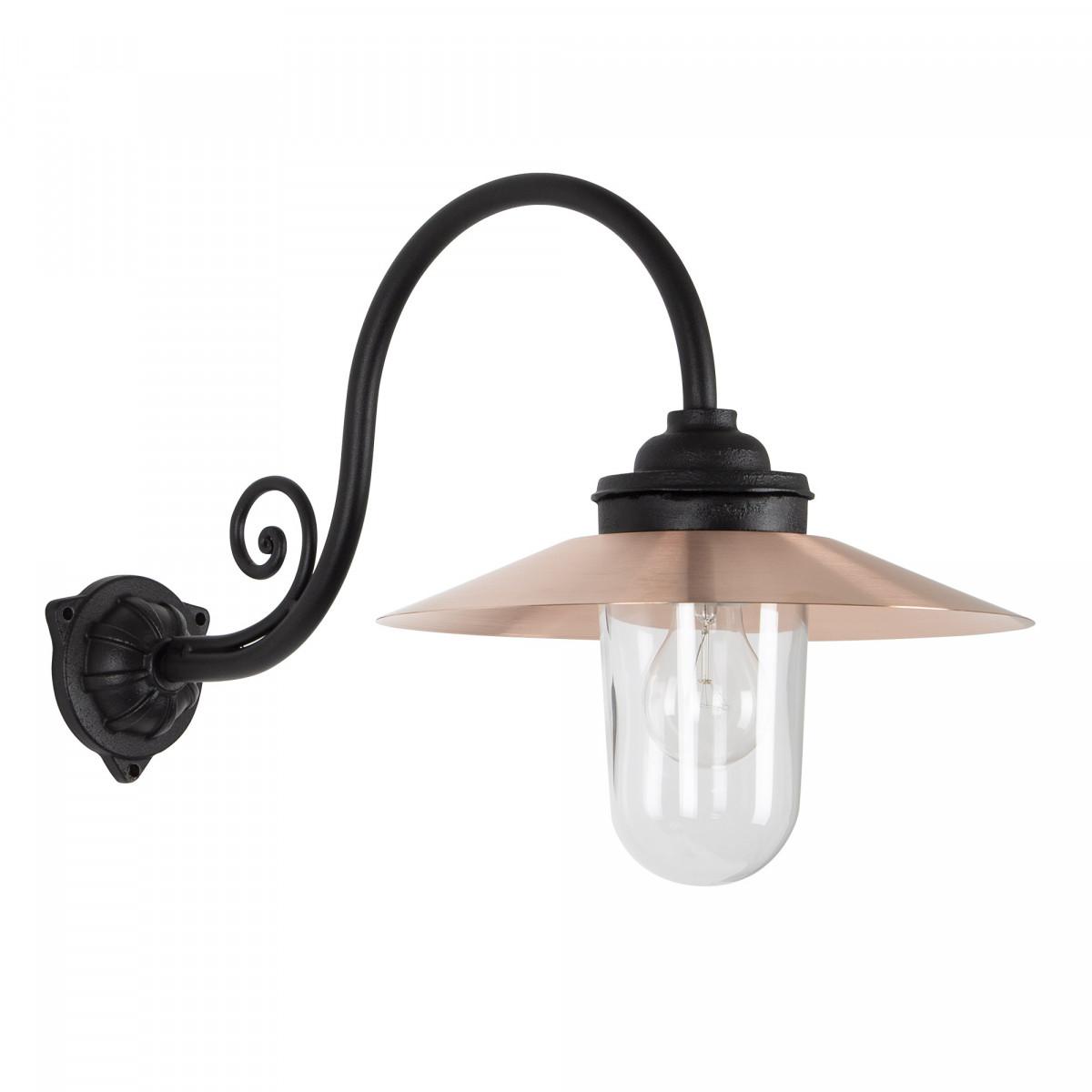 Stoere Stallamp Rhone buitenlamp  Zwart & Koper