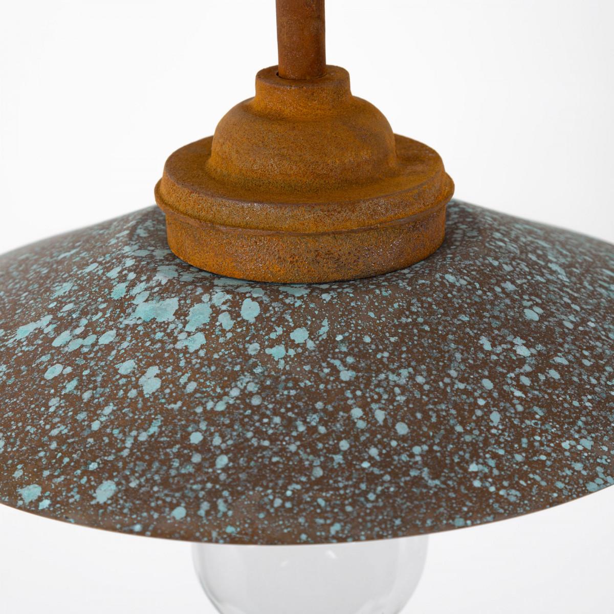 Stoere Stallamp Rhone buitenlamp gietijzer Koper
