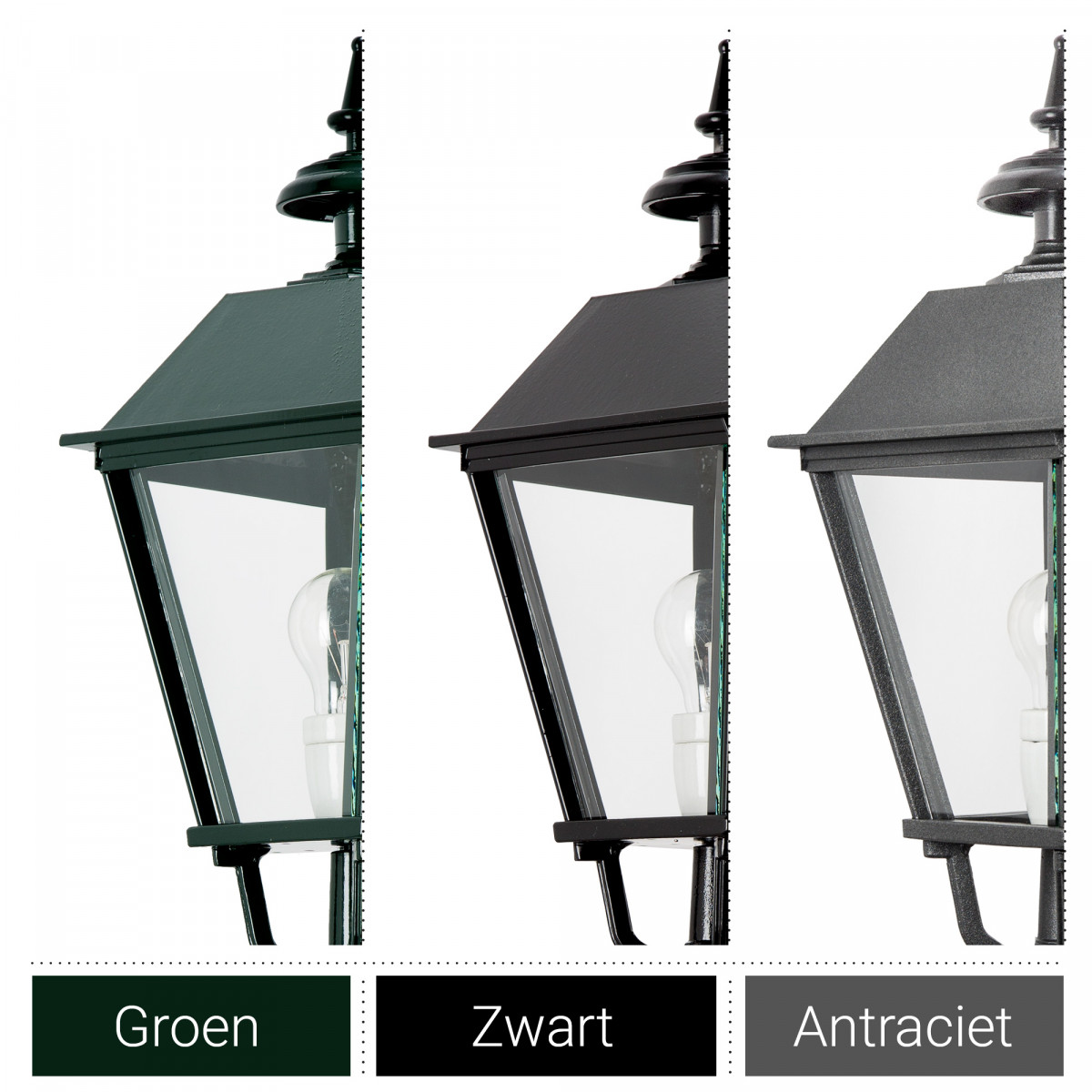 Buitenlamp Zeskant - M 38 Dag Nacht sensor LED Schemersensor