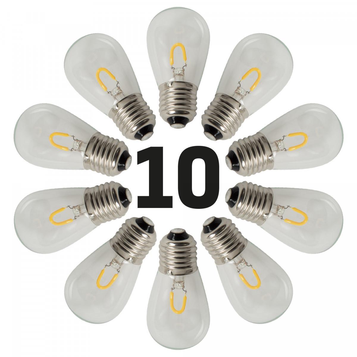 LED Feestverlichting 10 x 1 Watt - 10 helder