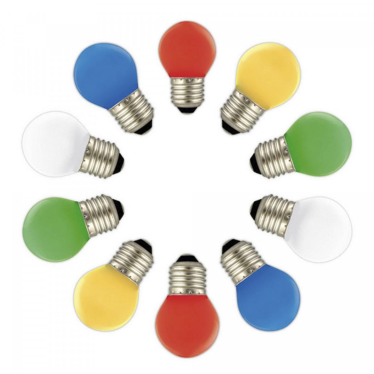 Feestverlichting LED Patio 20 kleur - 20 meter / 24 fittingen