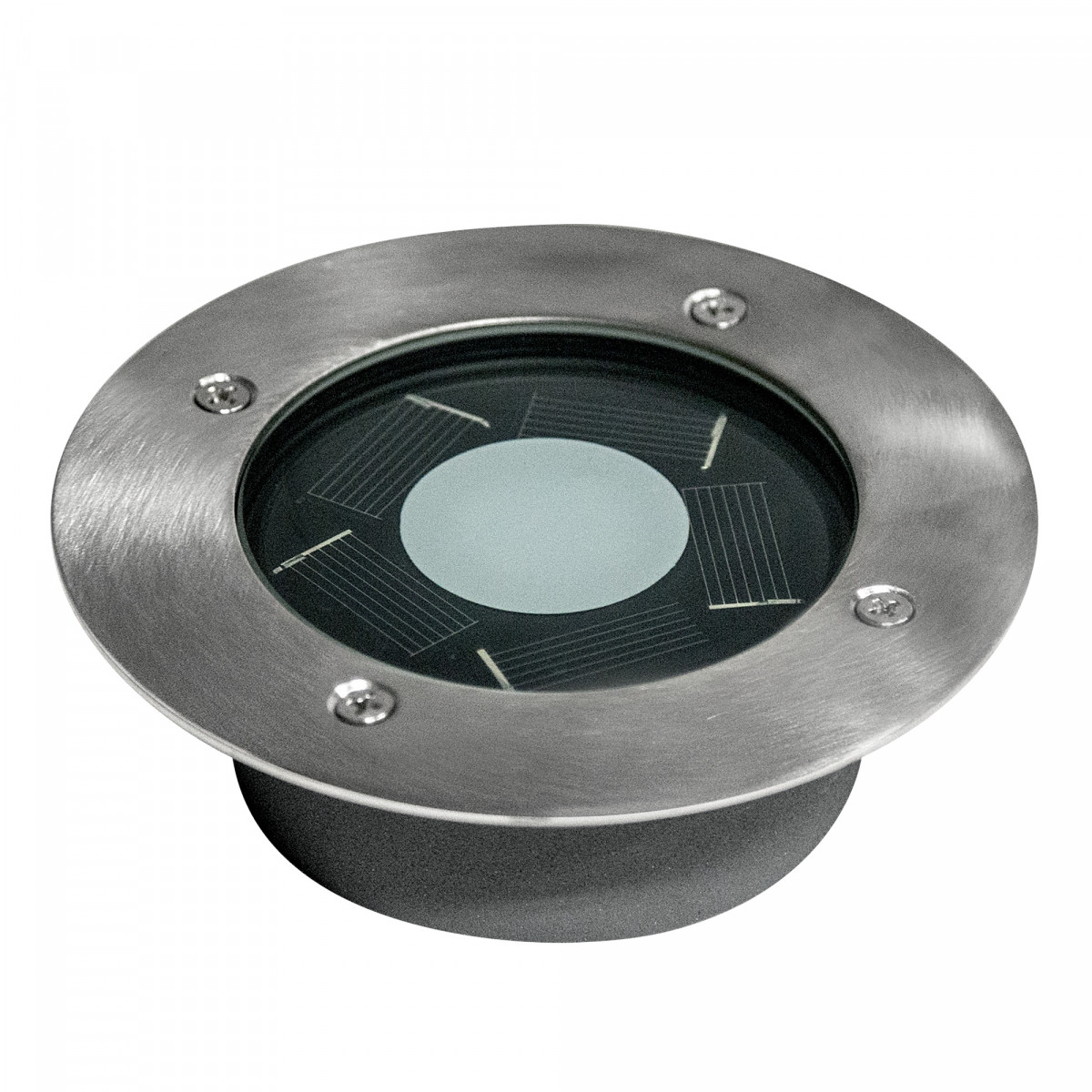 grondspot - LED solar Grondspot Rond Puck solar - solarlamp - zonne energie spot - Nostalux