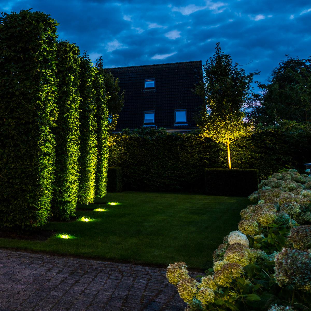 RVS Grondspot LED Ø11 Rond Zwart