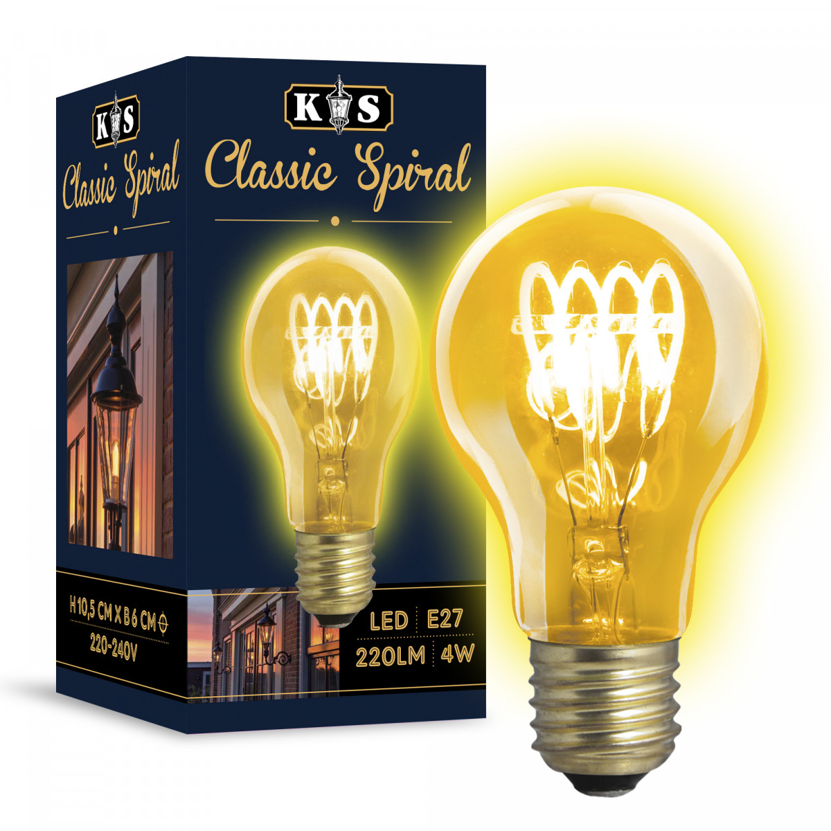 Ledlamp KS Classic Spiral - 4 Watt - 220 Lumen