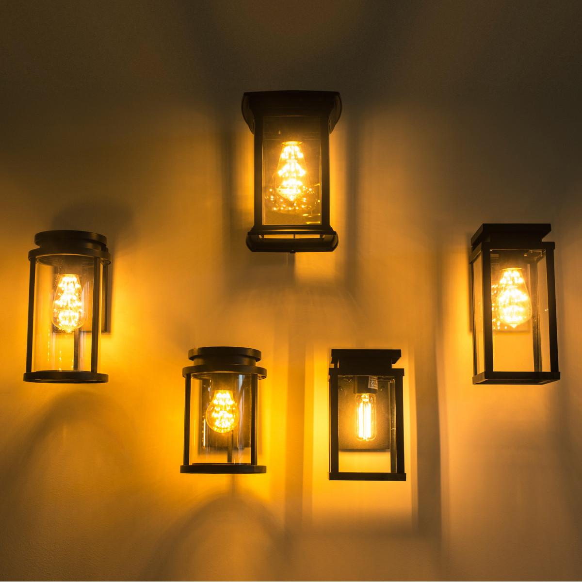 Wandlamp Jersey L met dag en nacht sensor