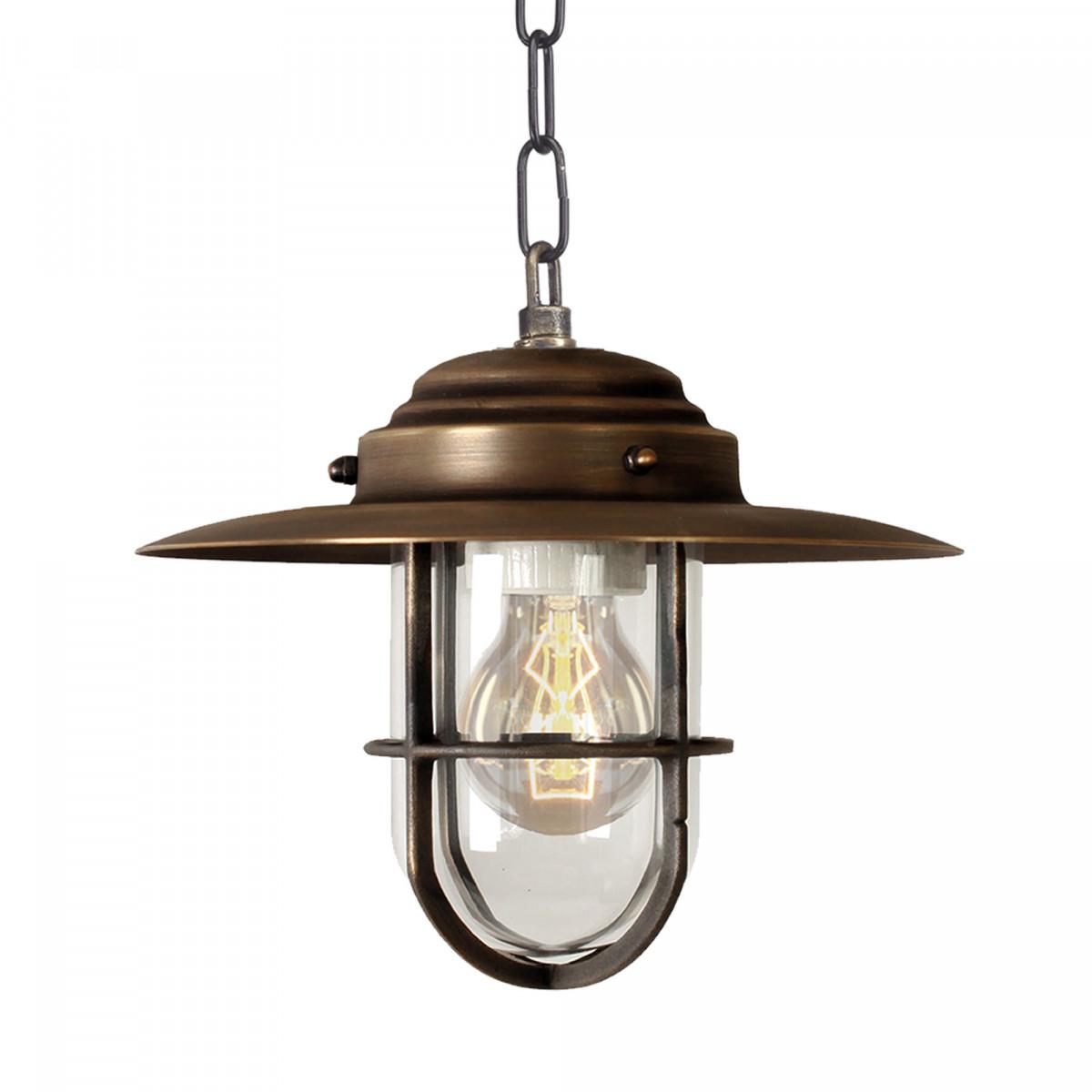 Verandalamp Labenne (1180) - Kettinglamp Brons - KS-verlichting - Buitenlamp aan ketting
