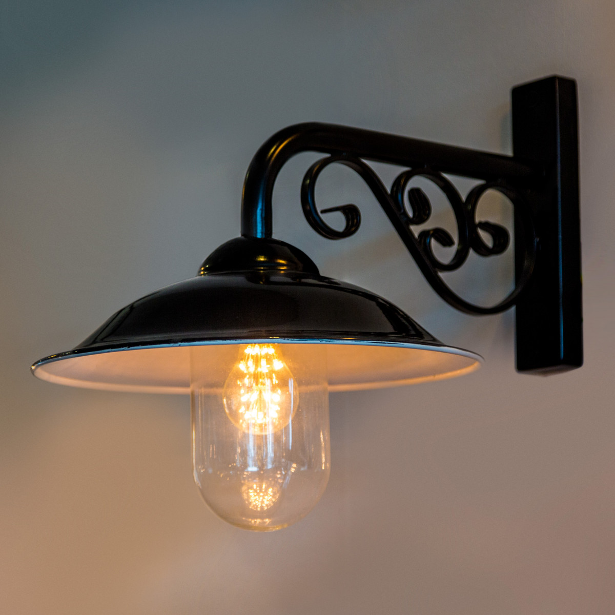 Stationslamp, Zwart (1260) - KS Verlichting - Buitenverlichting Rond