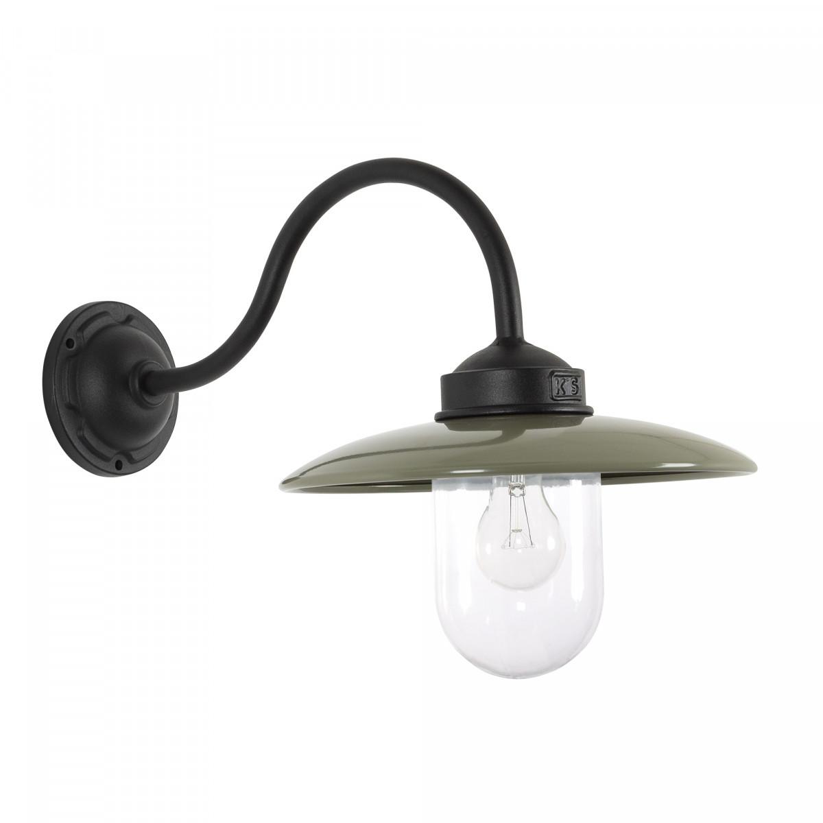 Handgemaakte stallamp Solingen Zwart en Taupe