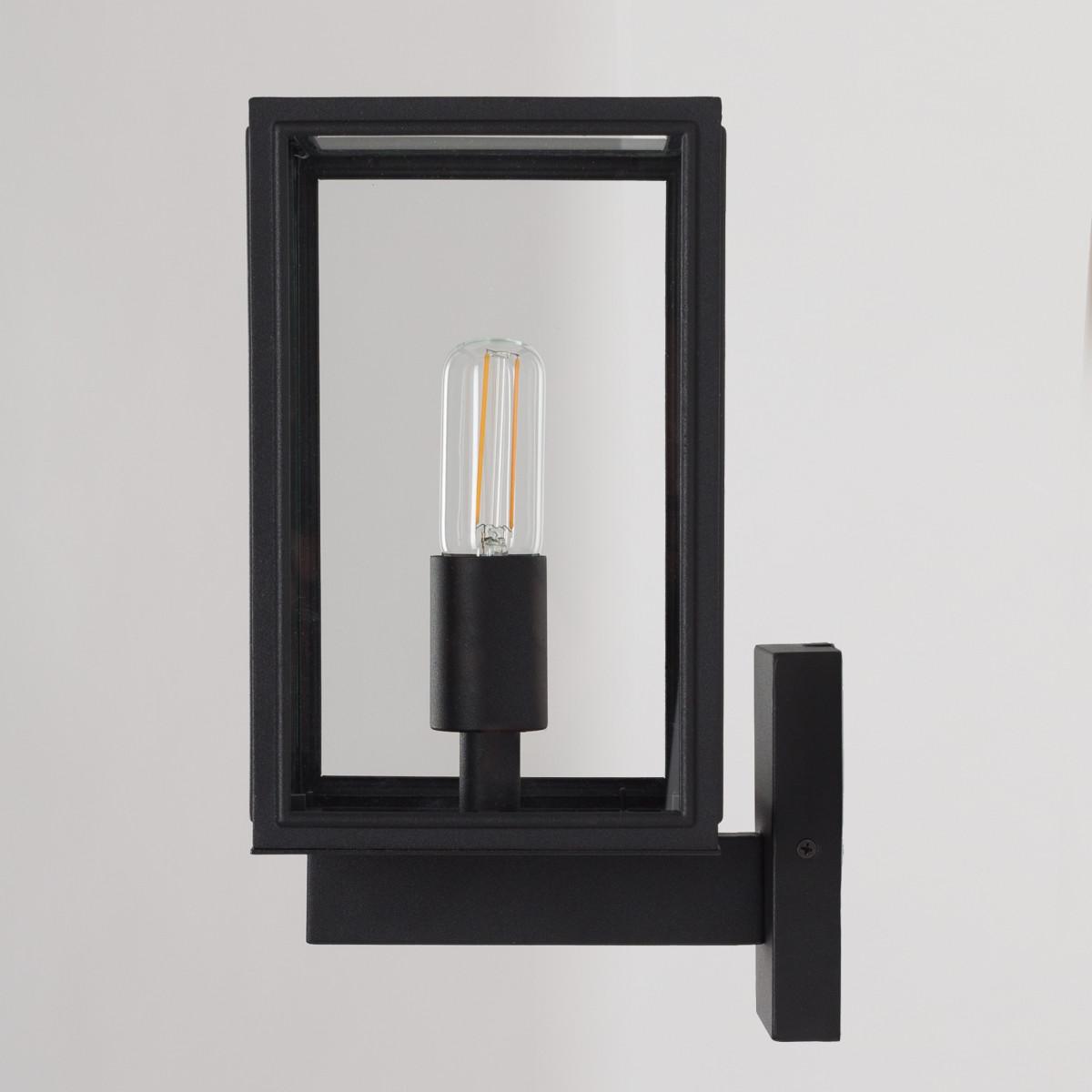 buitenlamp Soho met dag en nacht sensor - buitenverlichting - RVS mat zwart