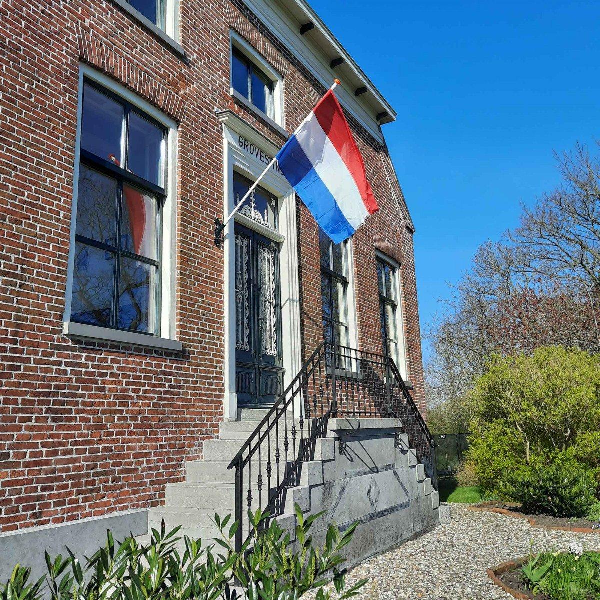 Vlaggenstokhouder Modern (5830) - nostalgische vlaggenstokhouder -- vlag - gevel - woning - pand - Nostalux